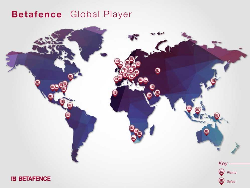 Betafence Group worlwide presence
