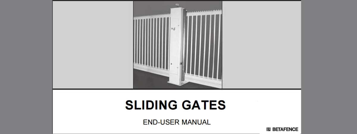 Slliding gates manuals