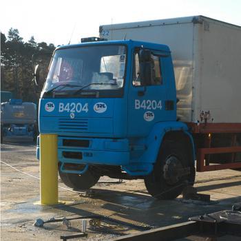 PAS 68 bollard crash test