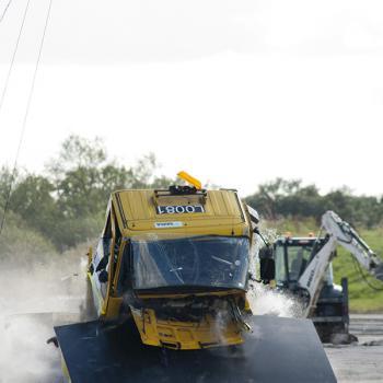 road blocker crash test
